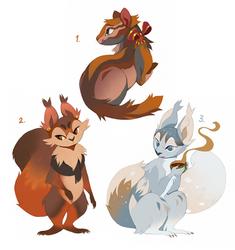 Squirrel Adoptables Flat Sale CLOSED by Tikrekins