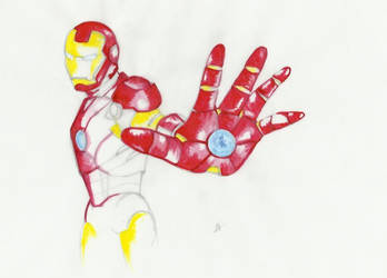 Iron Man colour by AFealy