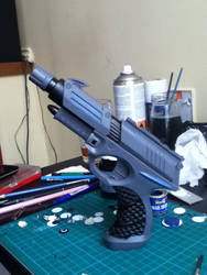 Futuristic Gun by AFealy