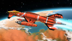 FS-140D Mars Defense Fighter by Artraccoon