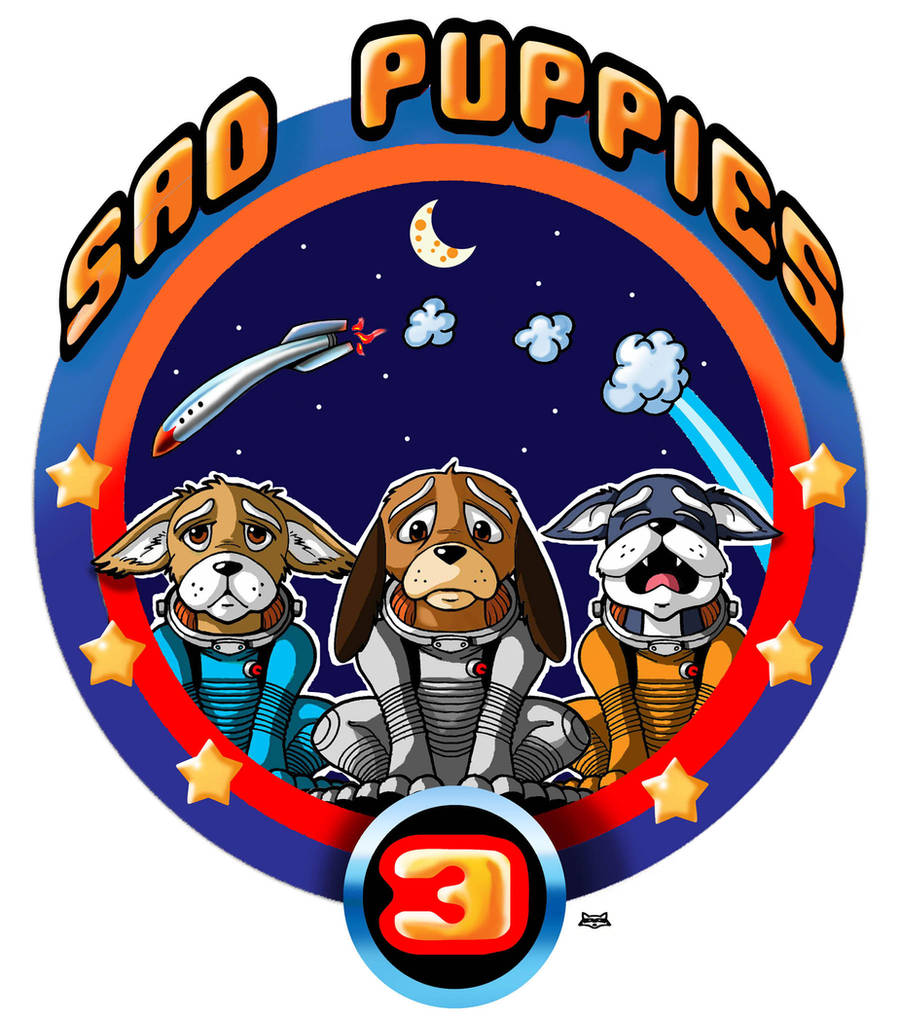 Sad Puppies 3      Mission Patch by Artraccoon