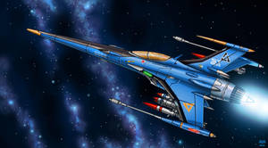 FSS-68A Sparrow Light Fighter by Artraccoon