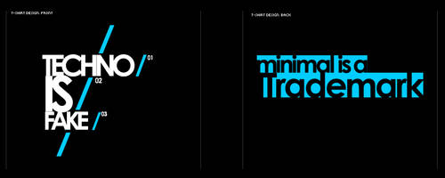 Minimal Techno. T-Shirt Design by nemesisge