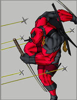 Deadpool Flats by Rcardoso530 by ICGREEN