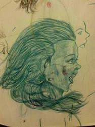 Side Profile Sketch by ShadeKing14