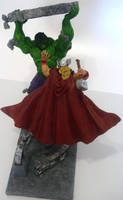 Hulk vs Thor by churichuro
