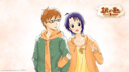 Hachiken and Mikage [Silver Spoon] by chairilandri