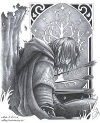 LotR: The departure of Boromir by Saimain