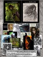 The Art of Faeren and Morgan Artbook by Saimain