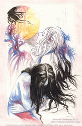 A Golden Moon by Saimain