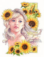 Sunflowers by Saimain
