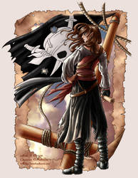 Elven pirate Meliawen by Saimain