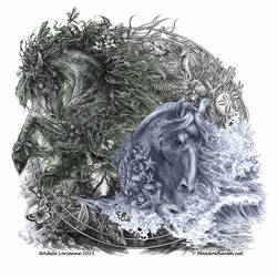 Horses of Nature by Saimain