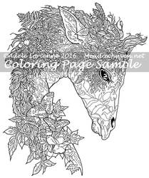 Art of Meadowhaven Coloring Page: Forest Giraffe by Saimain