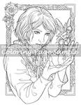 Art of Meadowhaven Coloring Page: Fairy Thief by Saimain