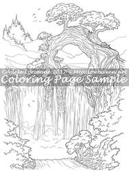 Art of Meadowhaven Coloring Page: Nefarine by Saimain