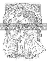 Art of Meadowhaven Coloring Page: Be Mine Always by Saimain
