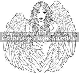 MeadowHaven Coloring Page: Heart of Gold by Saimain