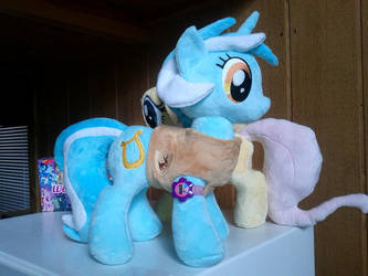 Lyra Heartstrings Plush With Winter Wrap-up Vest by PoNyePiC