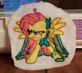 MLP Angry Fluttershy Embroidery Design by PoNyePiC