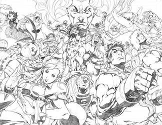Street Fighter 3 Teaser pencil by NgBoy