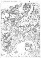 Street Fighter Origins: Akuma penciled page. by NgBoy