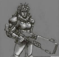 Female Gunner by NgBoy