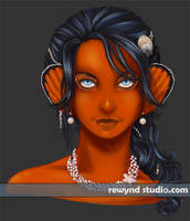 Clownfish Portrait by bytesizetreasure