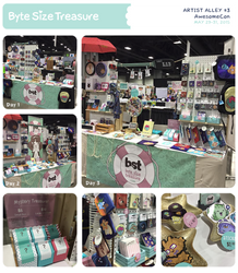 BST Artist Alley #3 - AwesomeCon 2015 by bytesizetreasure