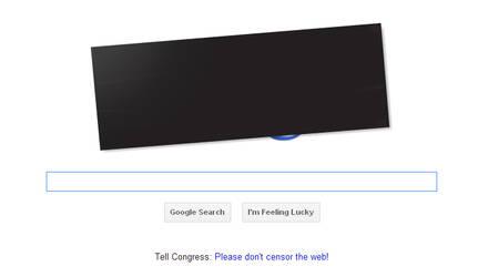 Google SOPA, PIPA Black Out by Dead-Genre-Revival