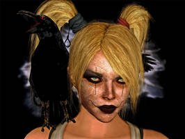 Hot Harley as the Crow ( Female Version ) by CyberBrian360
