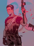 Punisher: Miami Vice by bearmantooth
