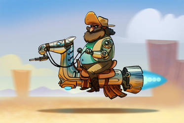 Bionic Cowboy by bearmantooth
