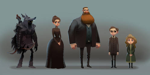 Weep for Day- Character Lineup by bearmantooth
