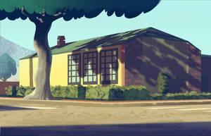 Neighborhood Sketch by bearmantooth