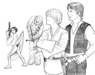 Luke Succumbs to the Dark Side by bearmantooth
