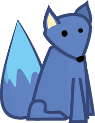 Little Blue Fox by KToonz