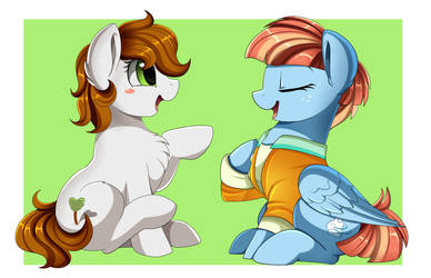 Comm:  talking to Rainbow Dash mom by pridark