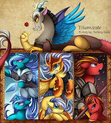 Fanfic Cover Comm: Triumvirate by pridark