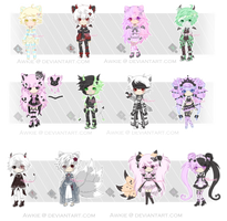 Adoptables [CLOSED] by Awkie