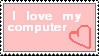 Computer Love Stamp by Alpha-Wolff