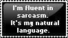 Sarcasm Stamp by Alpha-Wolff