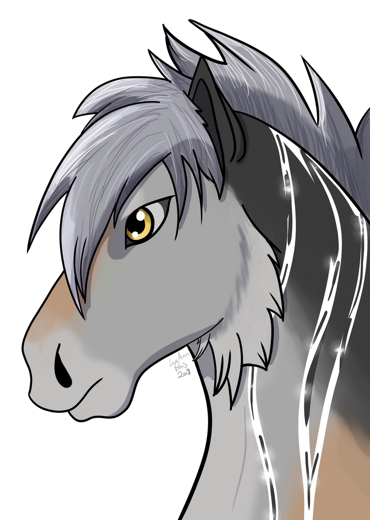 New Character headshot by IntelligentWolf
