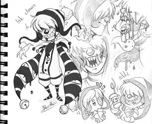 Clown oc - Poppy by BlasticHeart