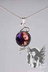 Goth Faerie Pendant by Caitria5