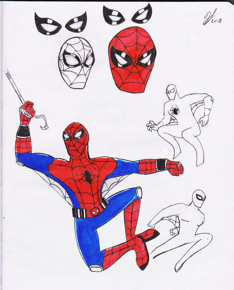 Spiderman Doodles by PandaKillerGao