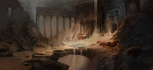 Ruins underground by Asahisuperdry