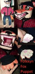 -Folkkyn fox puppet- by Ittermat