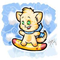 - Snowboarding Kitten - by vervex