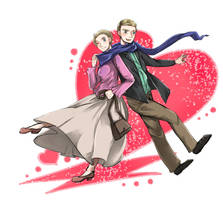 Sherlock:: John and Mary by caylren